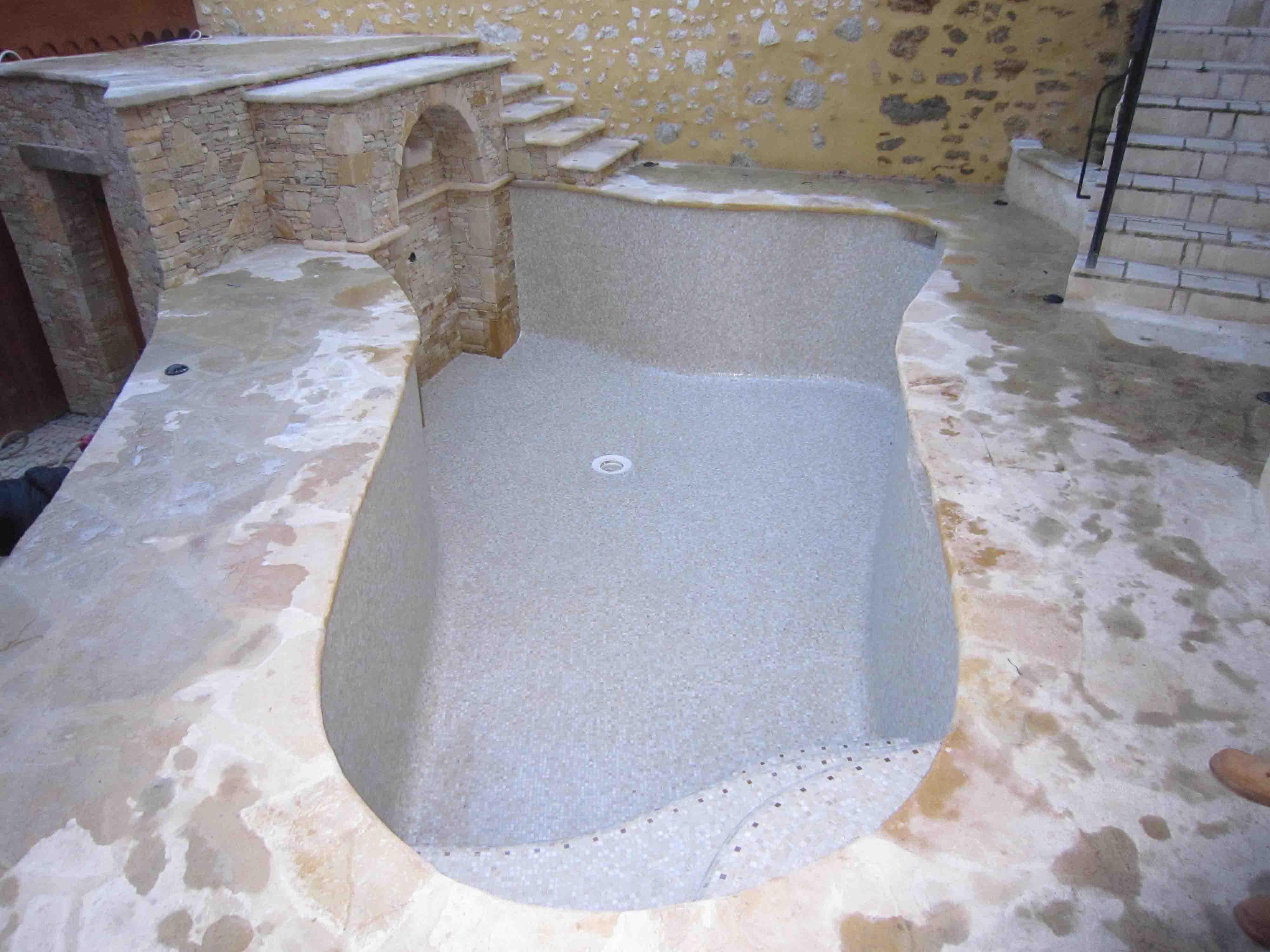 pâtes de verre piscine beige, dolce mosaic