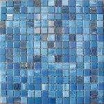 pâtes de verre bleu nacré