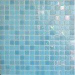 carrelage mosaique pates de verre bleu ciel nacré