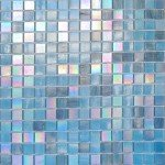 mosaique salle de bain en pates de verre bleu