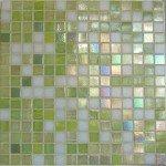 mosaique salle de bain vert anis, carrelage piscine vert