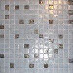 mosaique piscine en pates de verre gris